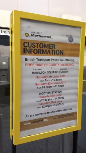 Free Bike Security Marking